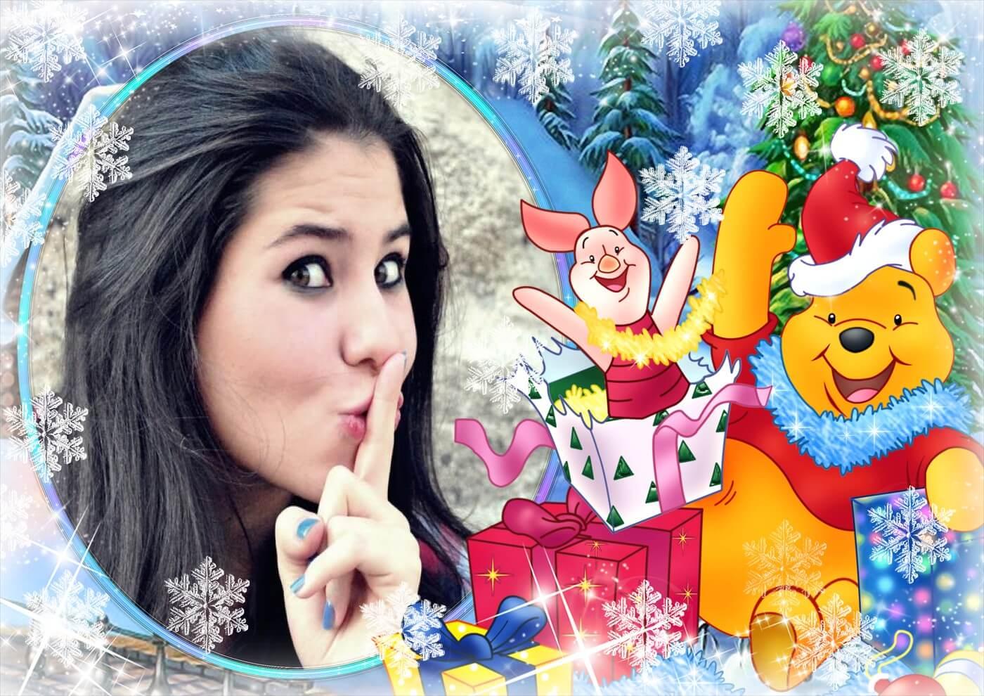 moldura-para-foto-de-winnie-the-pooh-no-natal