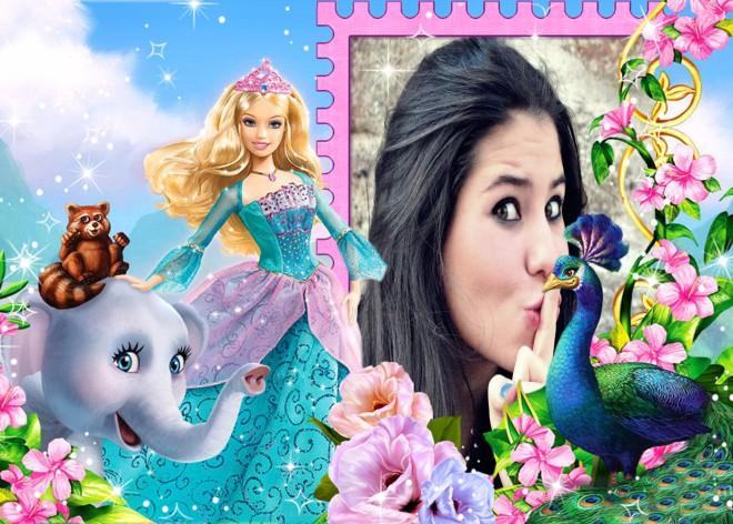 montyagem-de-fotos-princesa-barbie