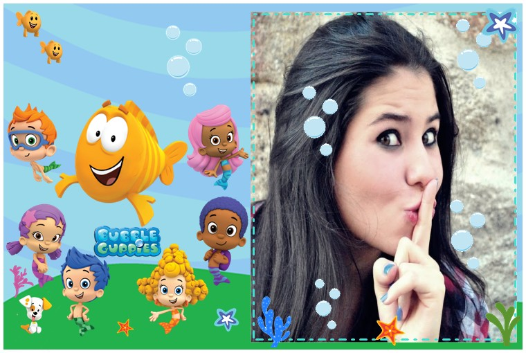 moldura-para-fotos-online-bubble-guppies