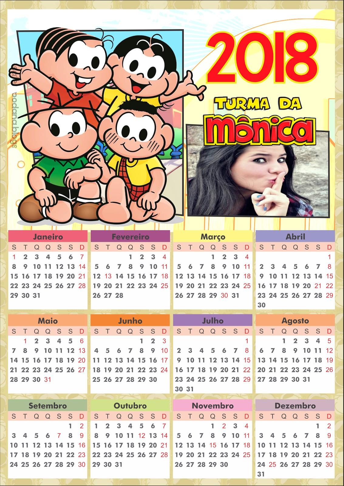 calendario-2018-turma-da-monica