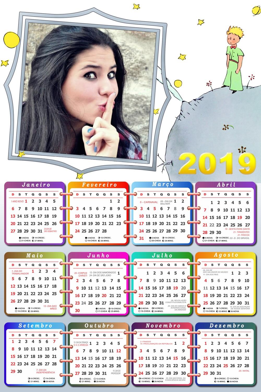 moldura-para-fotos-com-calendario-2019-o-pequeno-principe