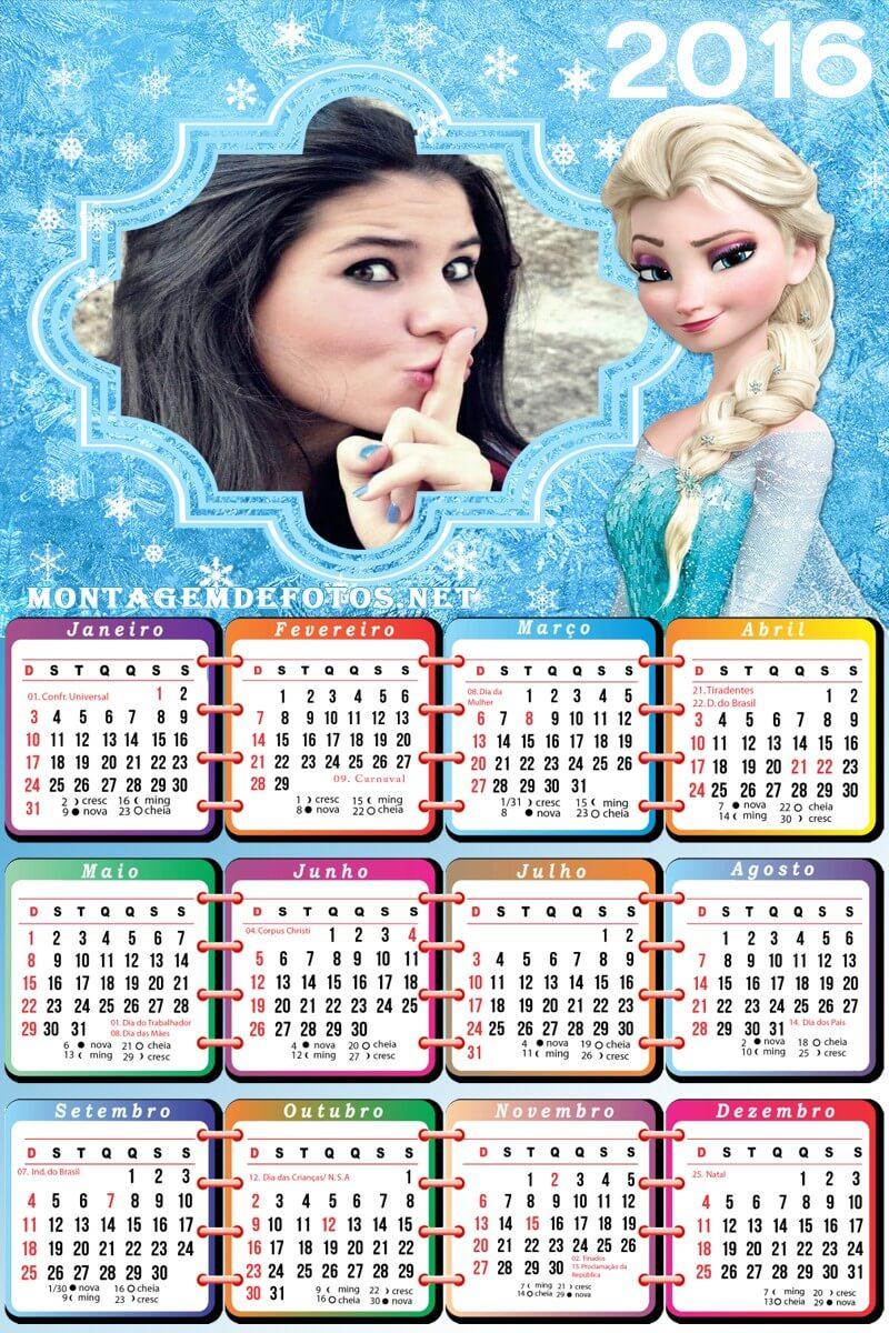 moldura-infantil-frozen-calendario-2016