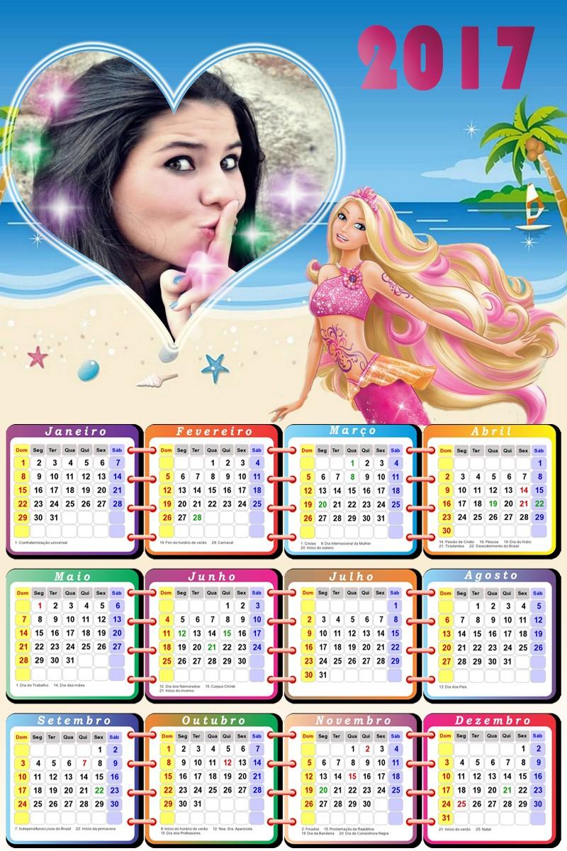 calendario-personalizado-gratis-para-imprimir-da-barbie-sereia