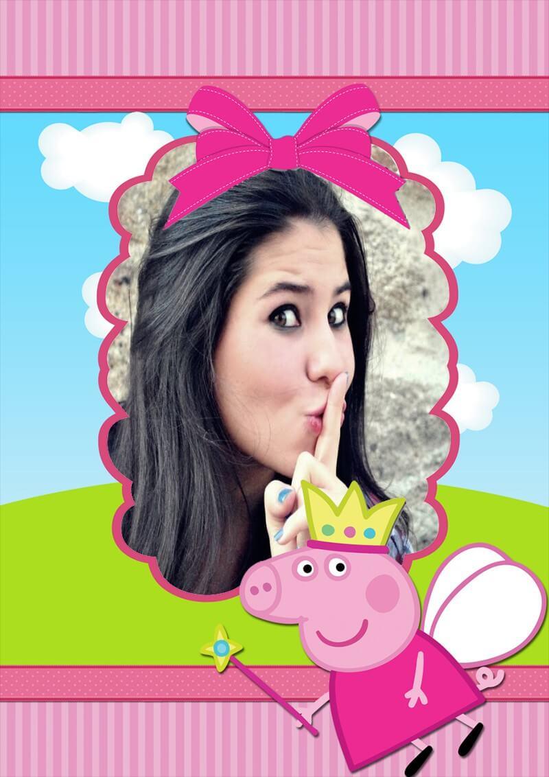 molduras-de-fotos-gratis-peppa-pig-princesa-fada