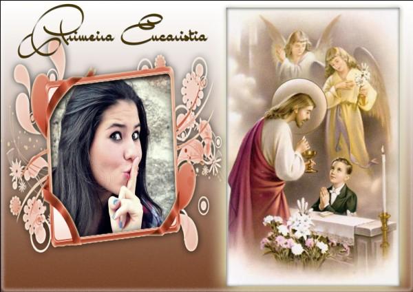 Montagem De Fotos Religiosos Primeira Eucaristia