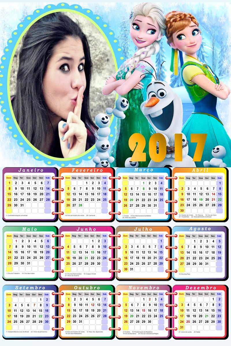 moldura-infantil-frozen-calendario-2017