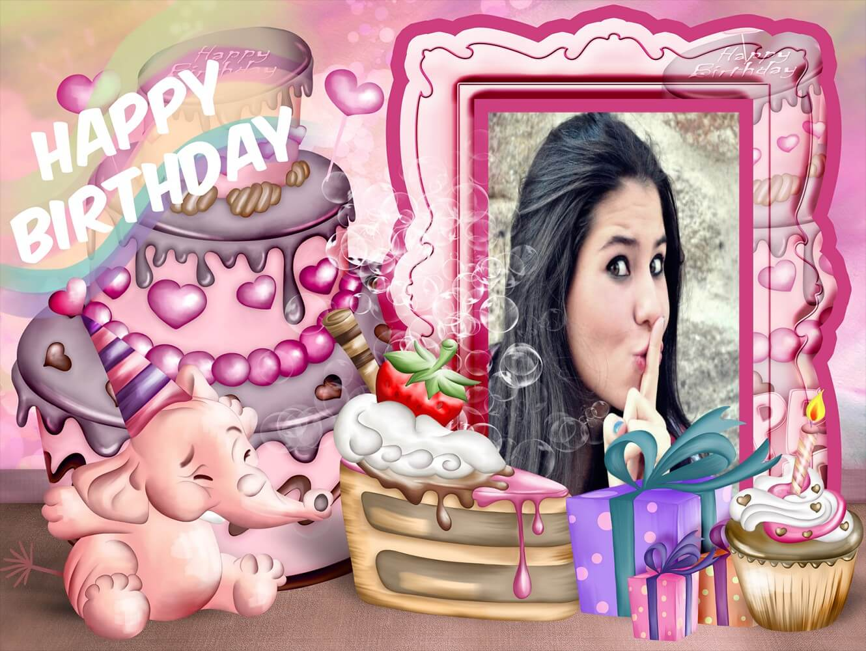 moldura-em-rosa-com-elenfantinho-para-desejar-um-feliz-aniversario