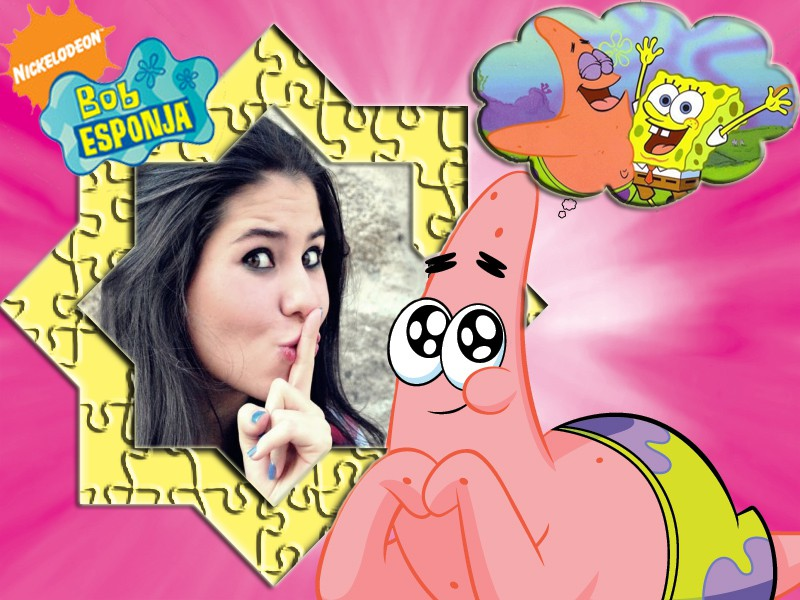 foto-moldura-patrick-estrela-spongebob-squarepants