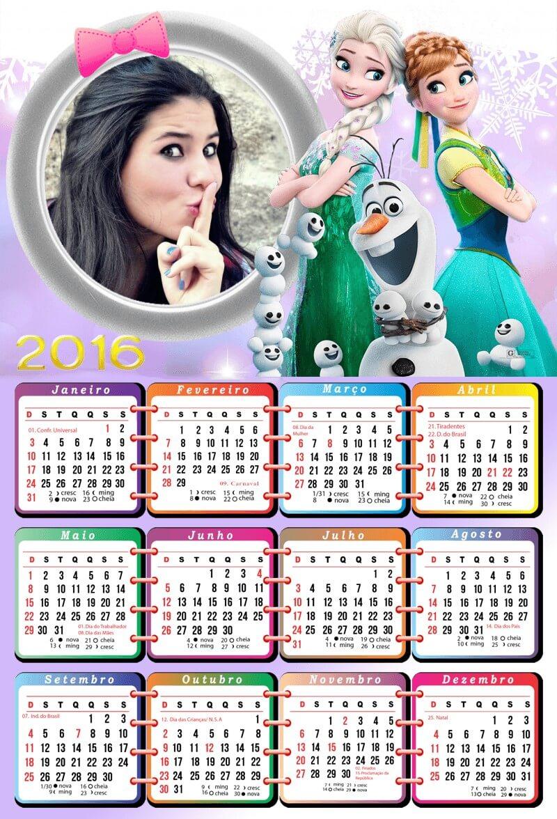 moldura-para-foto-de-calendario-da-frozen-2016