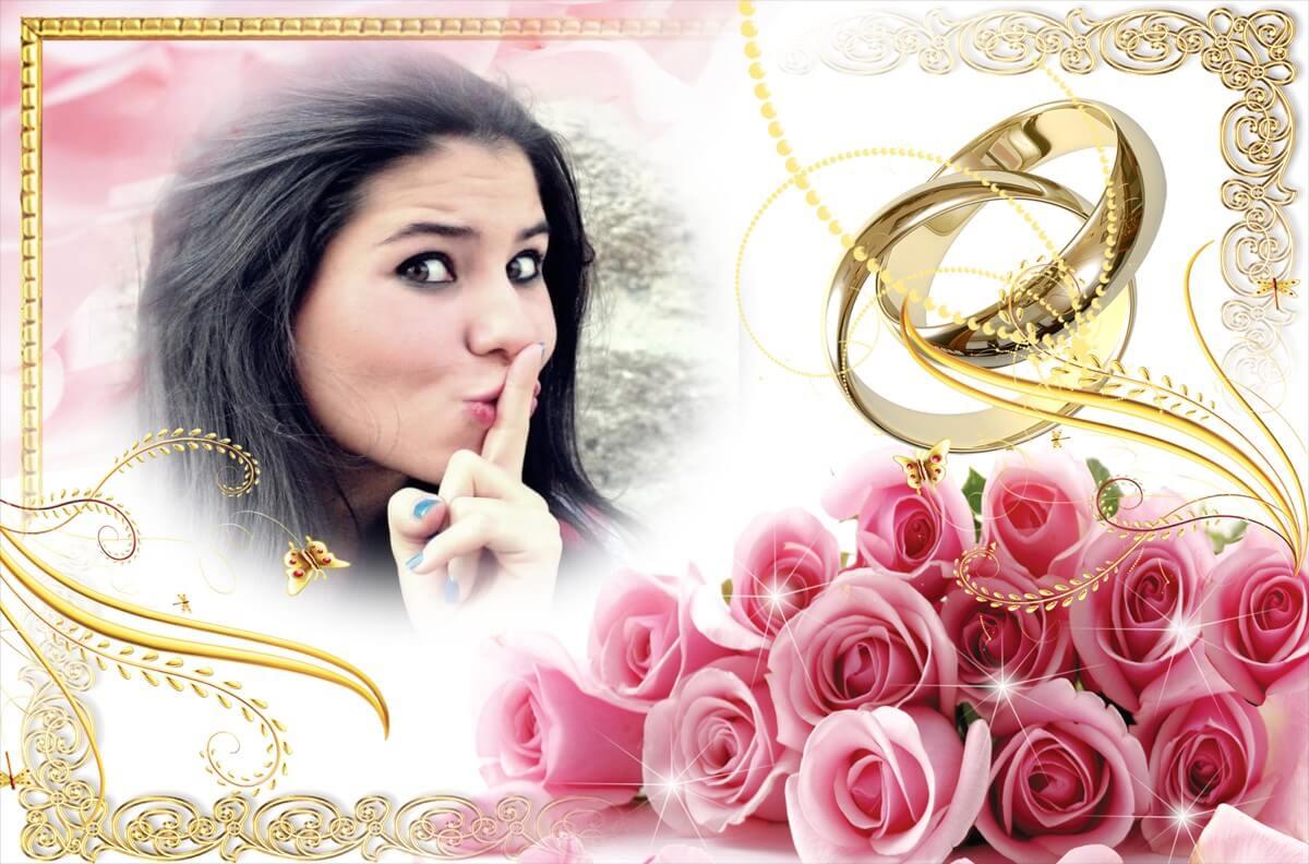 moldura-casamento-rosa-e-dourado