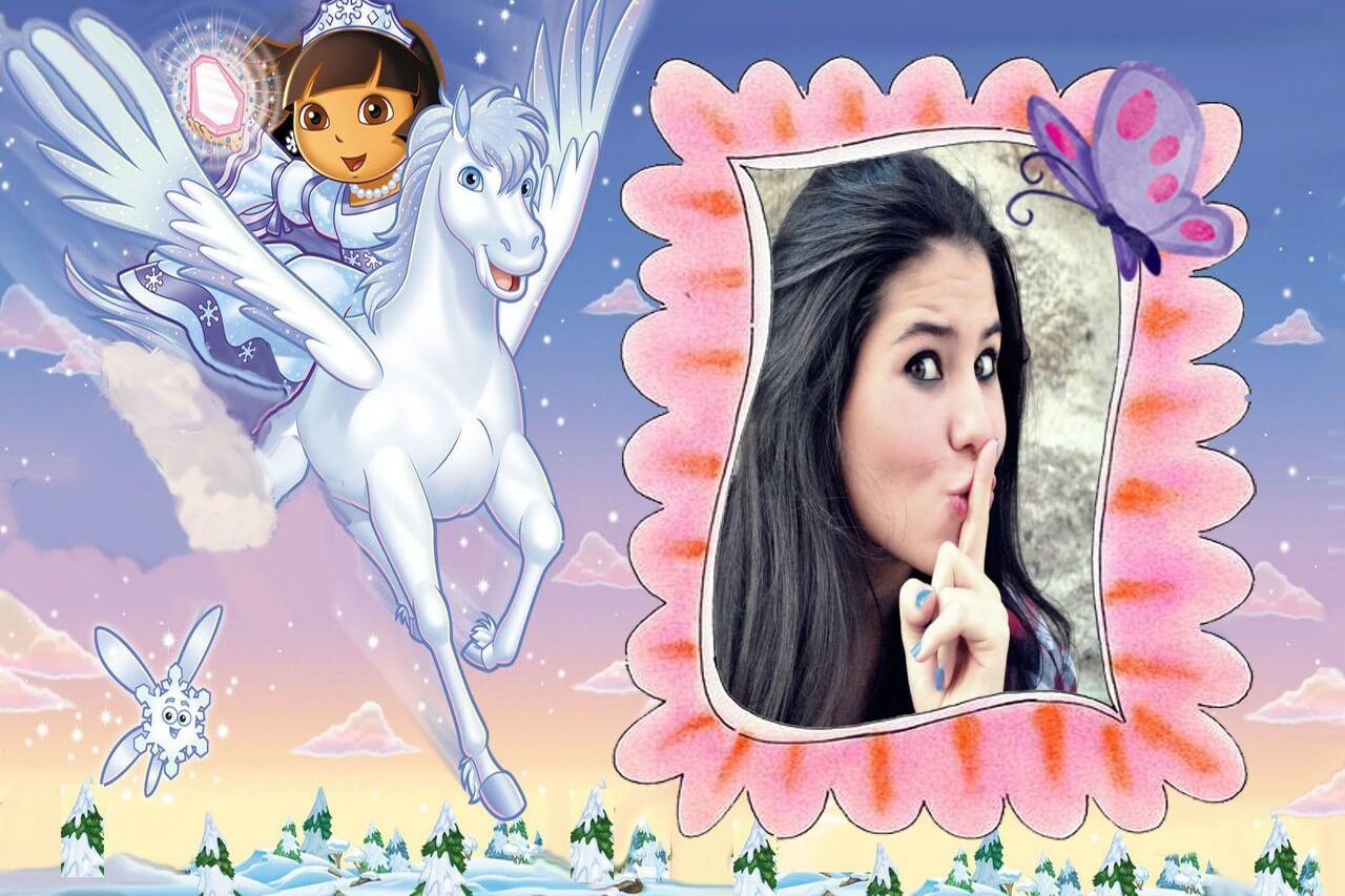 molduras-para-fotos-dora-aventureira-princesa