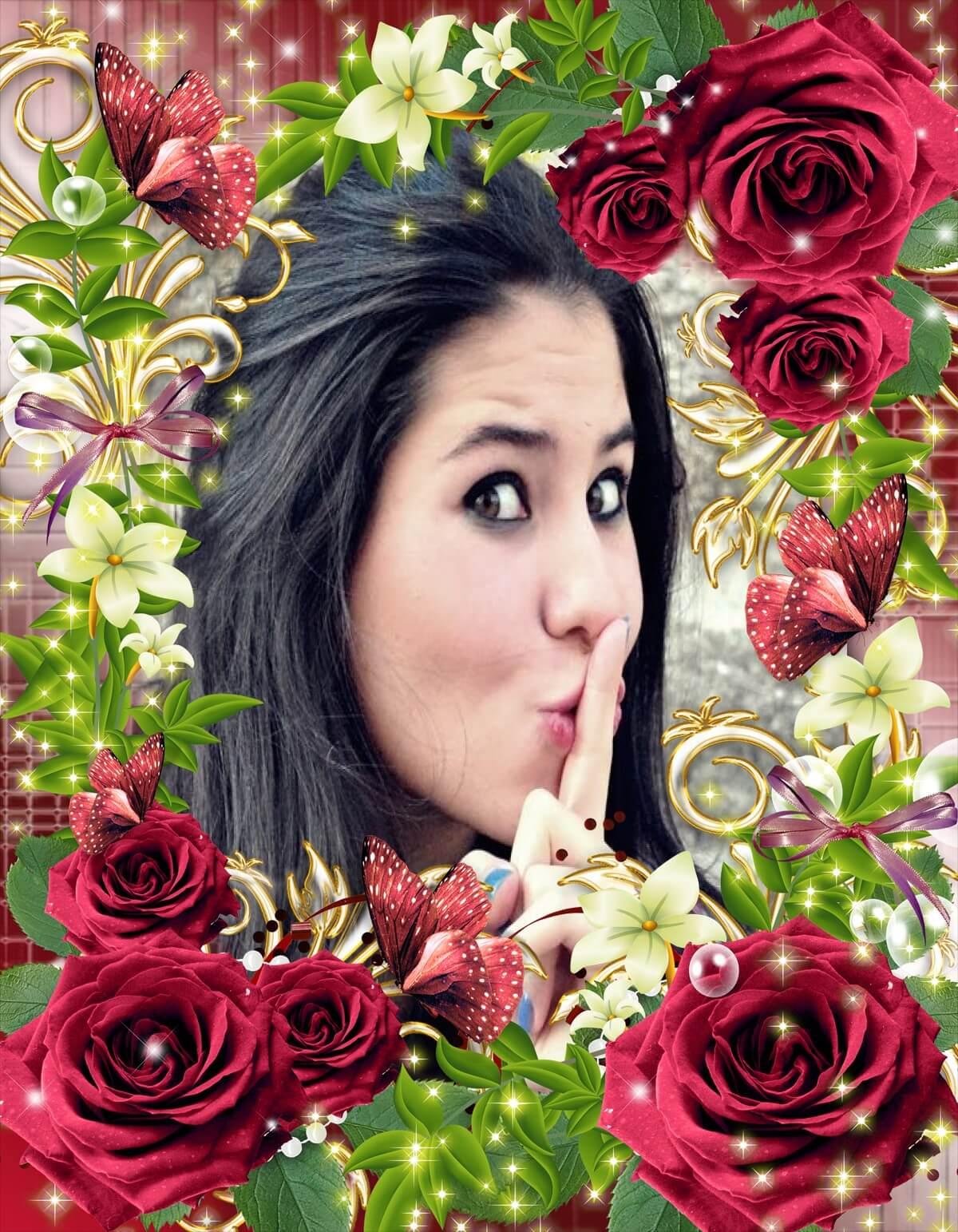 flores jardim secreto:moldura-de-flores-jardim-secreto