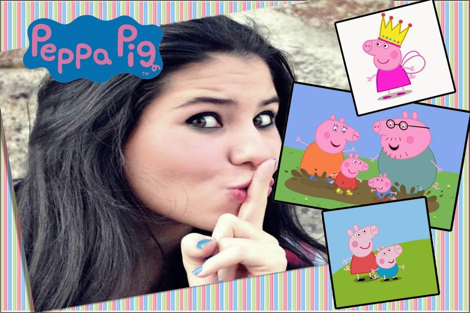 moldura-de-fotos-para-imprimir-peppa-pig-collage