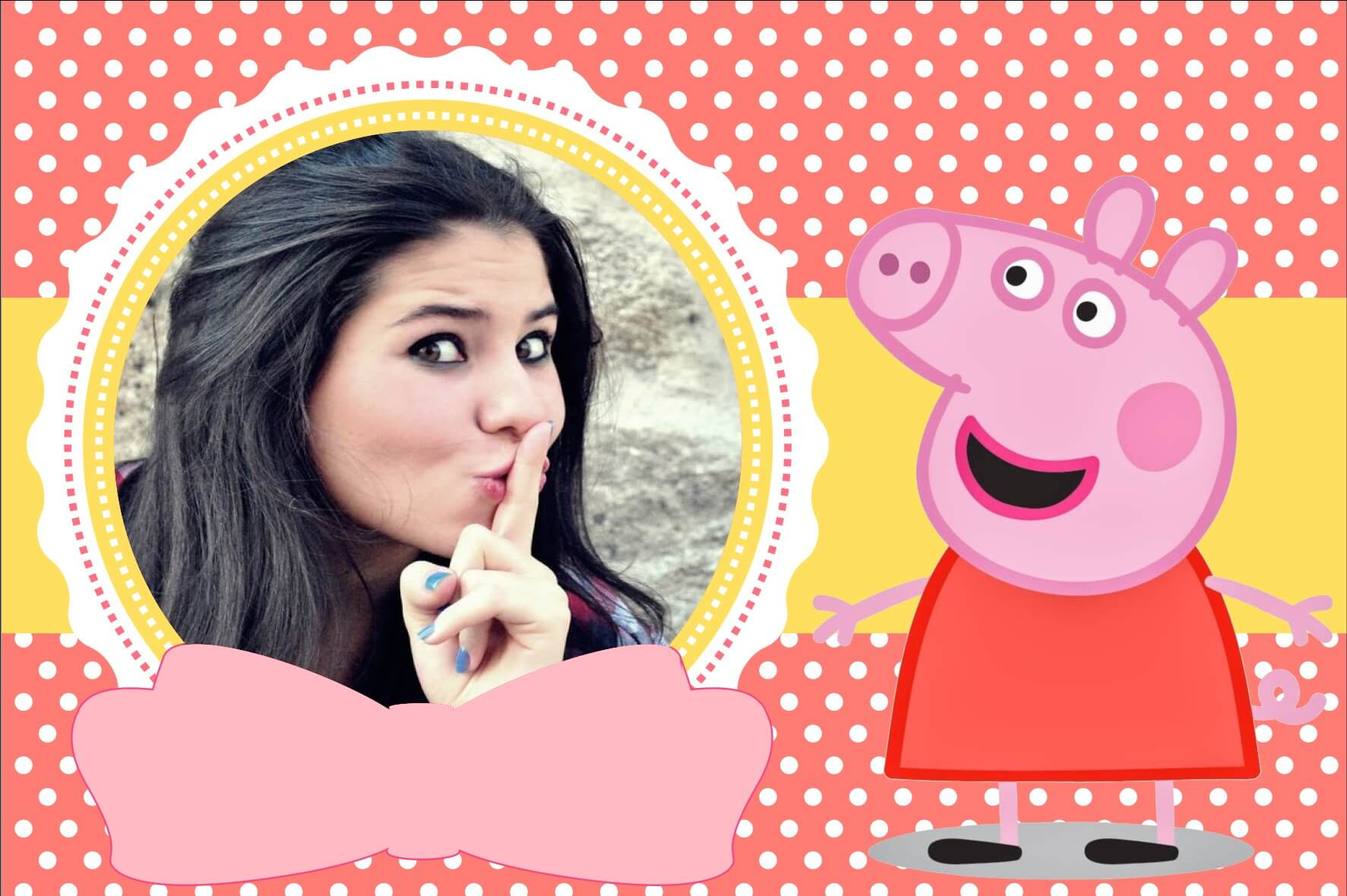 Montagem De Fotos Infantil Convite Peppa Pig Fotomontagem Online