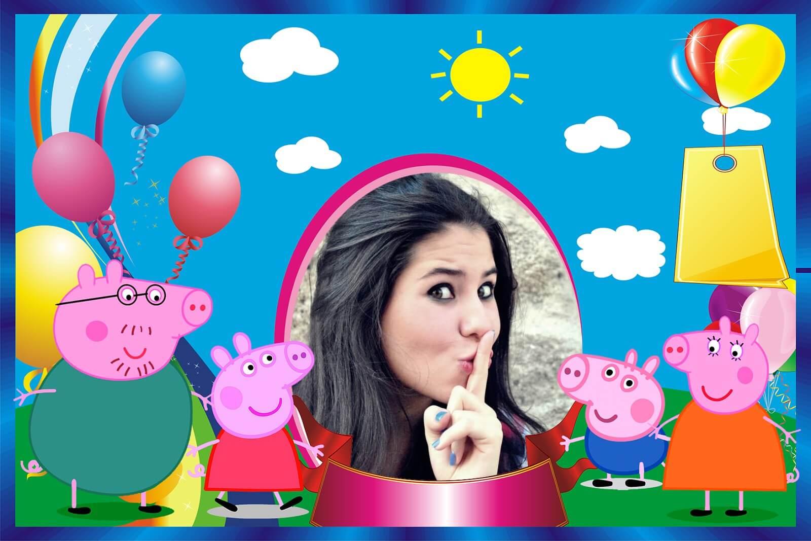 moldura-de-aniversario--peppa-pig-e-familia