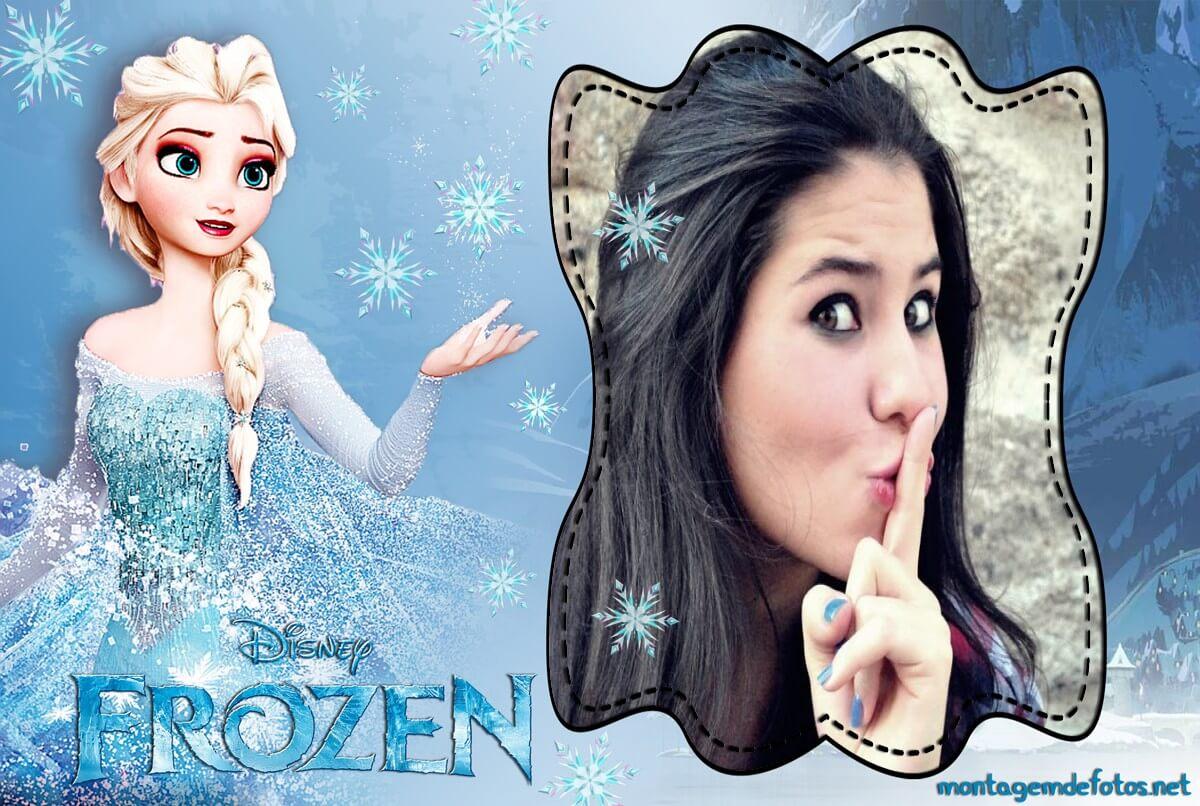 moldura-para-fotos-online-princesa-elsa-frozen