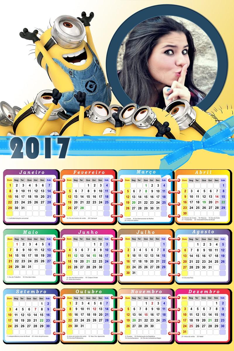 calendario-online-gratis-2017-com-minions