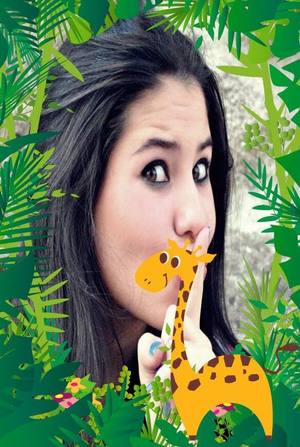 moldura-de-fotos-da-girafa