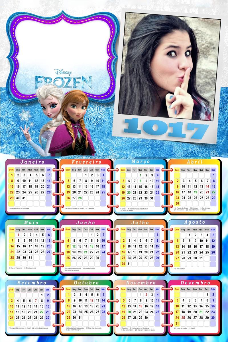 moldura-infantil-calendario-frozen-2017