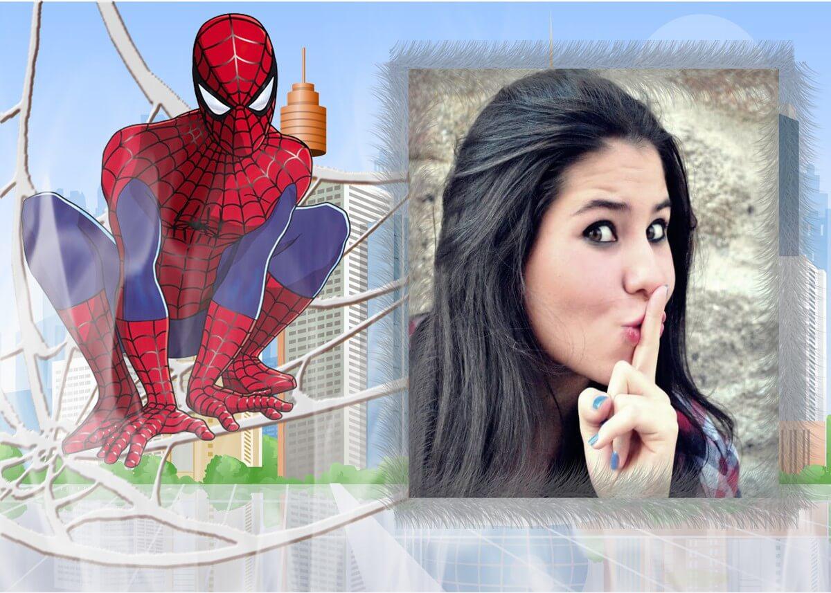 montagem-de-fotos-com-homem-aranha