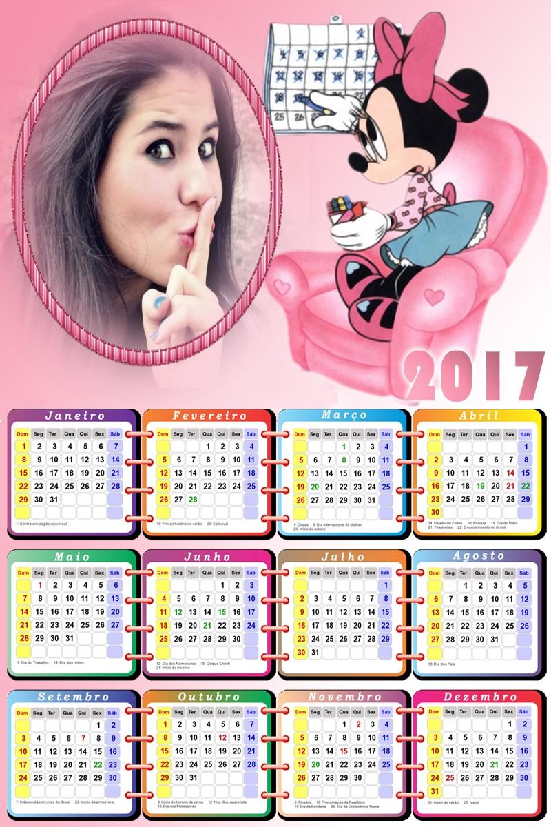 foto-moldura-para-calendario-com-a-minnie-2017